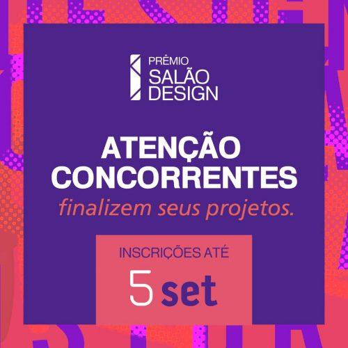 Inscrições para o Prêmio Salão Design encerram dia 5 de setembro